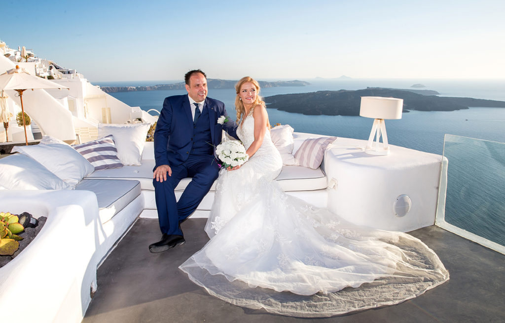 Santorini Vow Renewal ceremony